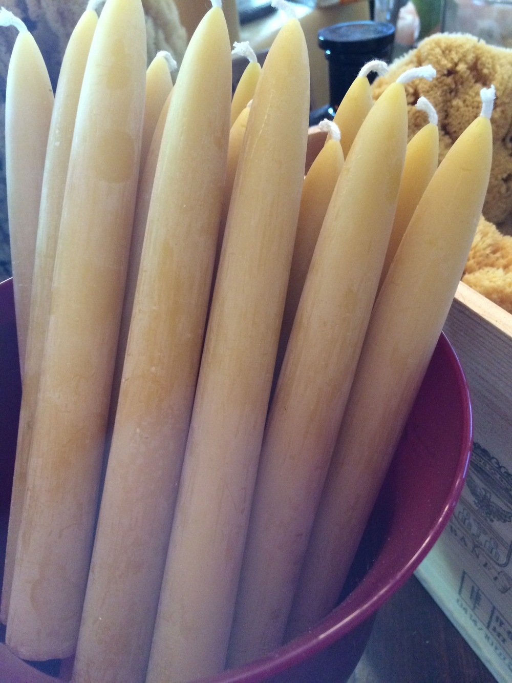 Pure Beeswax Candles Sticks.JPG