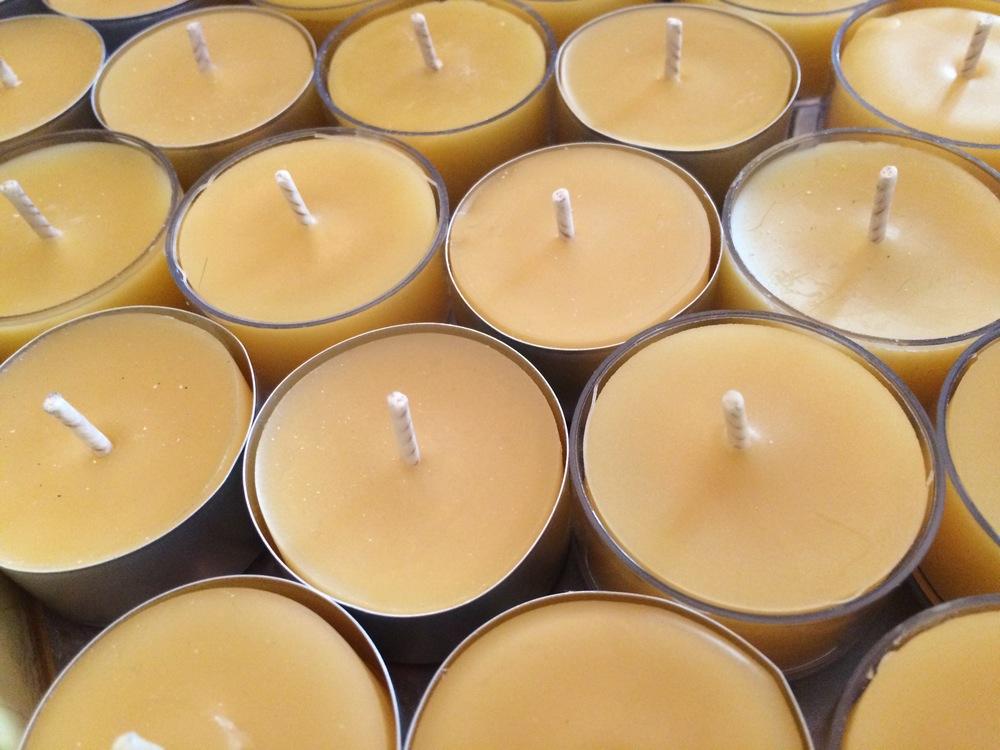 Pure Beeswax Candles Tea Lights.JPG