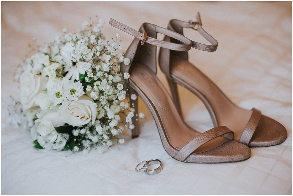 Wedding Shoes + Floral Inspiration at this Backyard Albuquerque Elopement | Downtown Contemporary Art Studio | Albuquerque, New Mexico | Jasper K Photography