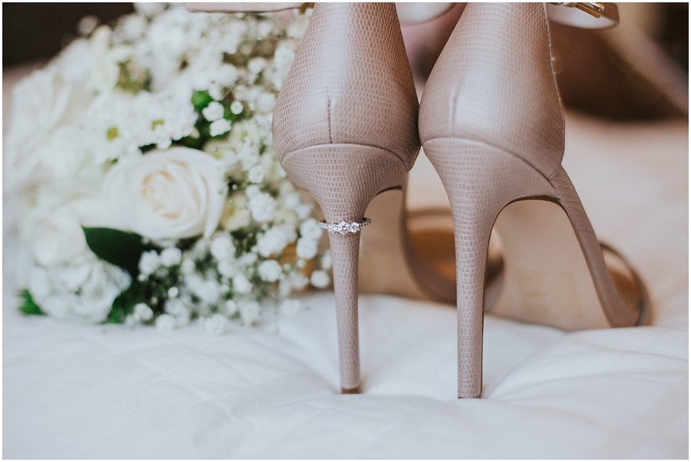 Wedding Shoes + Wedding Ring Inspiration at this Backyard Albuquerque Elopement | Downtown Contemporary Art Studio | Albuquerque, New Mexico | Jasper K Photography