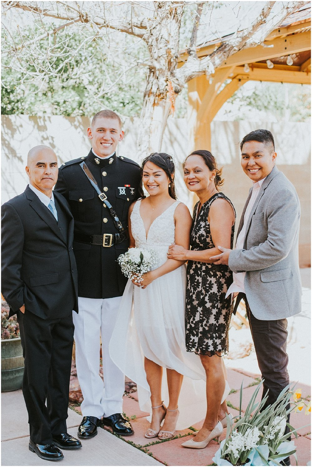Wedding Inspiration at this Backyard Albuquerque Elopement | Downtown Contemporary Art Studio | Albuquerque, New Mexico | Jasper K Photography