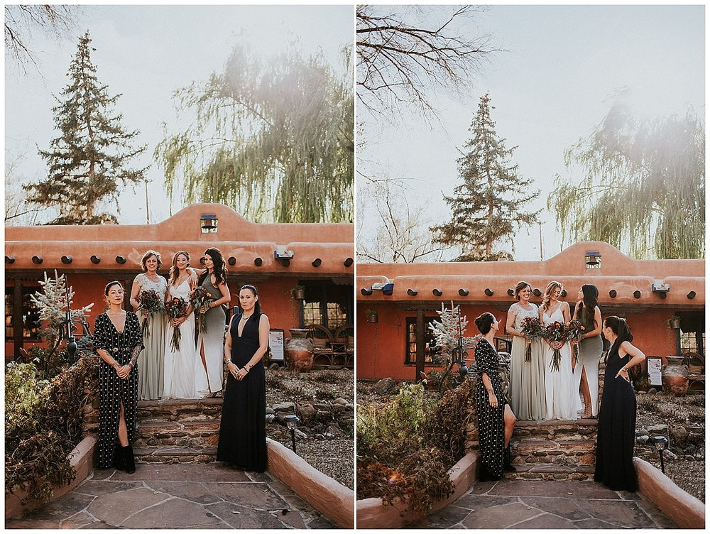 Before the nuptials, Malisa and her gorgeous bride tribe prepped for the big day at Palacio de Marquesa in Taos, NM. Jasper K Photography had previously collaborated with Malisa and a few of her friends on a fantastic styled bridesmaids inspiration shoot for Rocky Mountain Bride at Adobe & Pines Inn so coming together again to capture Malisa's bridal portraits at the location where we all met was truly special for all of us.