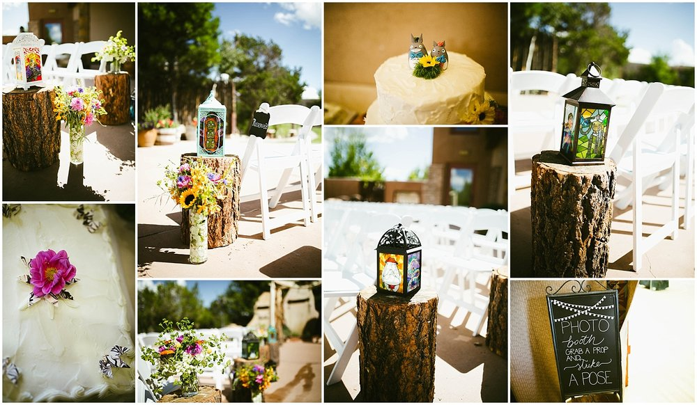 Studio Ghibli inspired Wedding Decor   Ryan proposed to Mallory at the Studio Ghibli Museum in Mitaka, Japan so it was fitting that their beautiful wedding day at Nature Pointe weddings in Tijeras, New Mexico was like a Miyazaki film come to life. A lot of planning went into their wedding. The magic of Miyazaki's films is unlike any other so incorporating the magnificence of his imagination into Mallory + Ryan's wedding day was a must. The intricacy of their wedding details were absolutely AMAZING!  Jasper K Photography