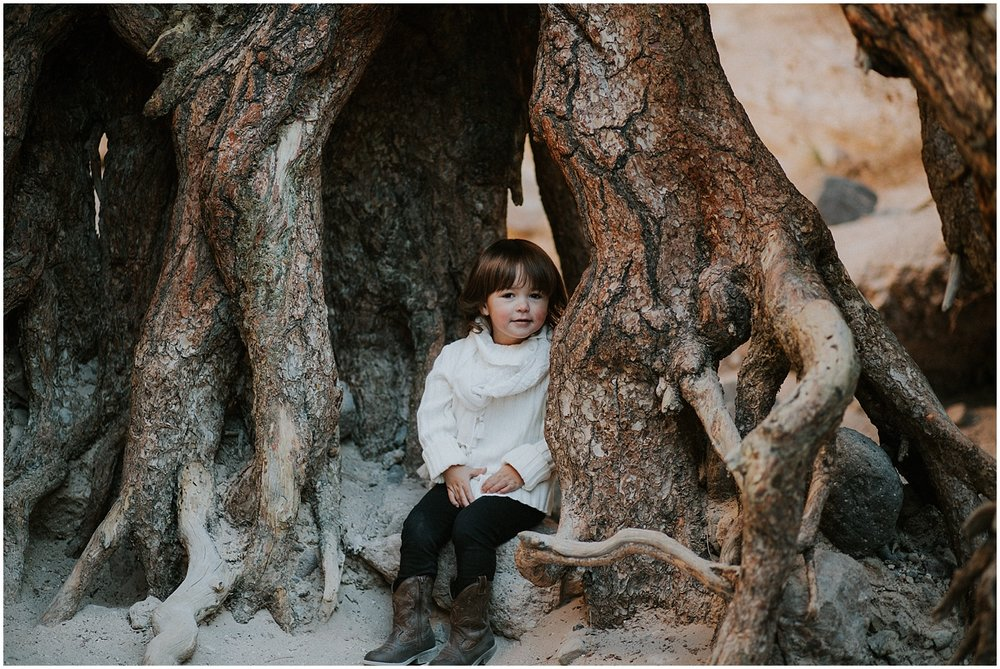 On a cold January morning, Samantha came to my house to get her hair and makeup professionally styled by my sister, Juliette Peralta of Viva Grace Makeup.We then all traveled together along with Sam's awesome grandma to Kasha-Katuwe Tent Rocks National Monument outside of Santa Fe, New Mexico. The breathtaking scenery of Tent Rocks was the perfect backdrop to capture their love story with their beautiful daughter.