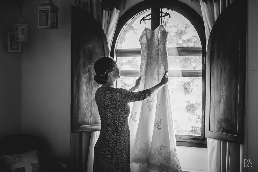 vestido da sposa in toscana