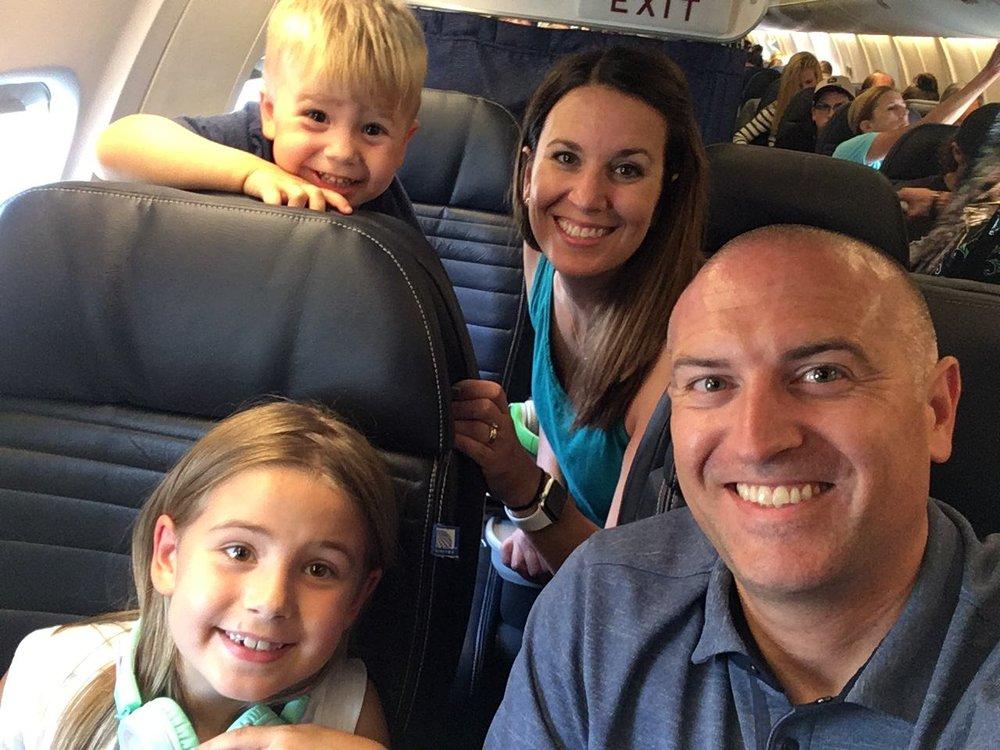 On plane #1!