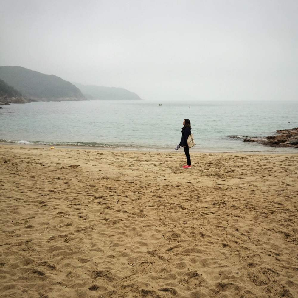 The beach in Lamma Island