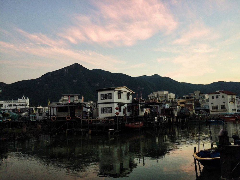 Sundown over Tai O.