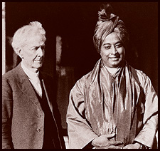 Luther Burbank and Paramahansa Yogananda in Santa Rosa