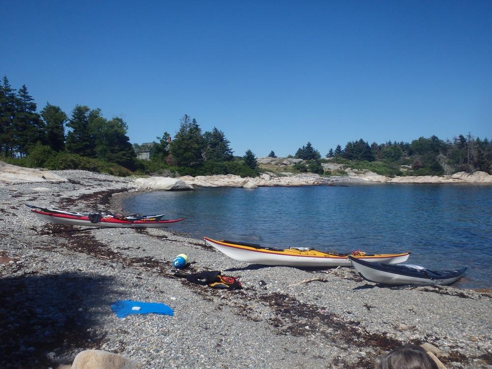 Break time on Ragged-Seal Cove