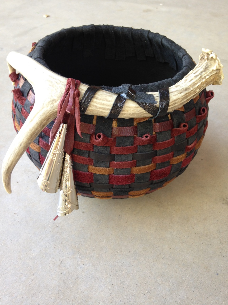 Black & Red Leather Weaving
