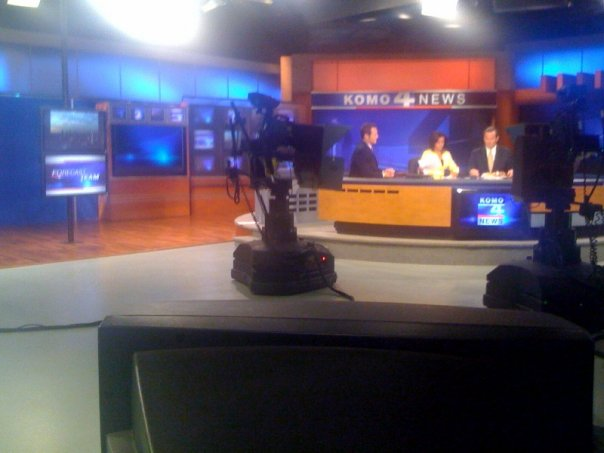 Behind the scenes in the KOMO TV Newsroom