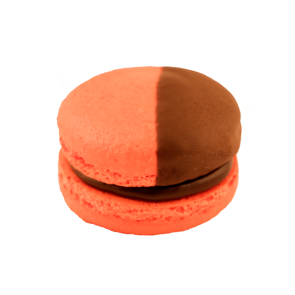 Chocolate Raspberry Macaron.png