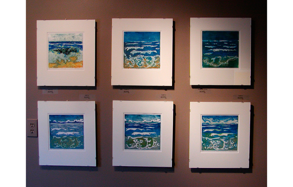 Bill Curtsinger - Inge Norgaard, 2008 , Northwind Arts Center, Port Townsend, WA,  Pacific Suite , Collograph and Oil Pastels