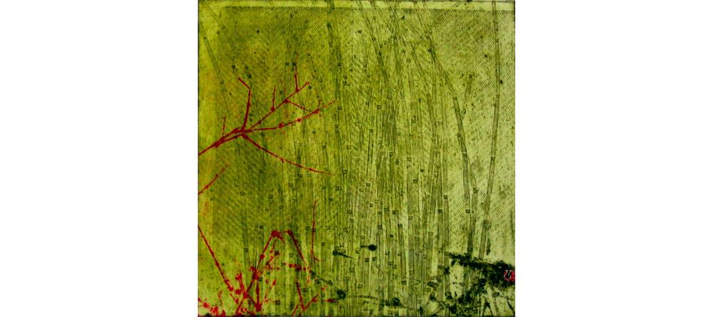 Primordial Grass , Collograph