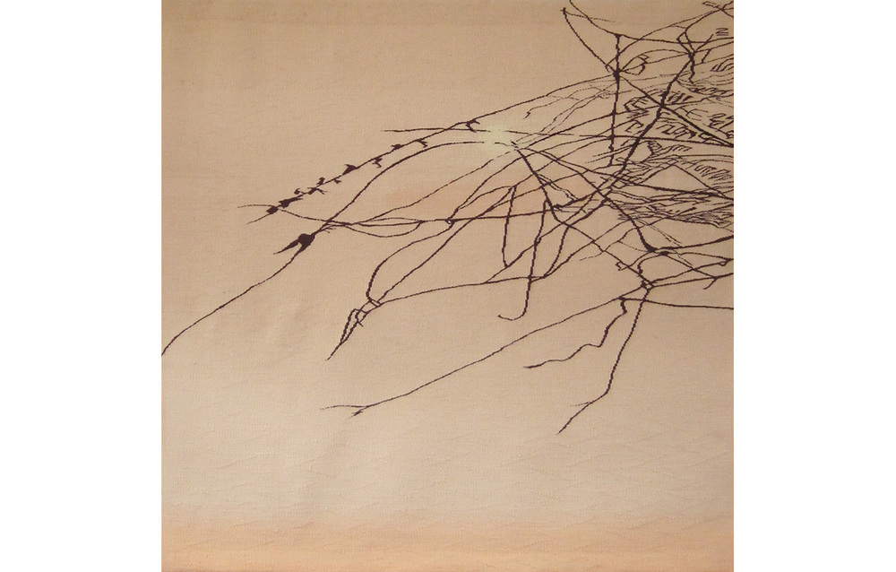 "Nesting 3 , wool on cotton, 44"" x 44"""