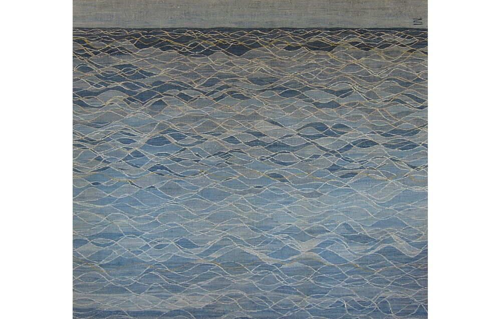 "The Song of the Ocean , wool on cotton, 52"" x 58"""