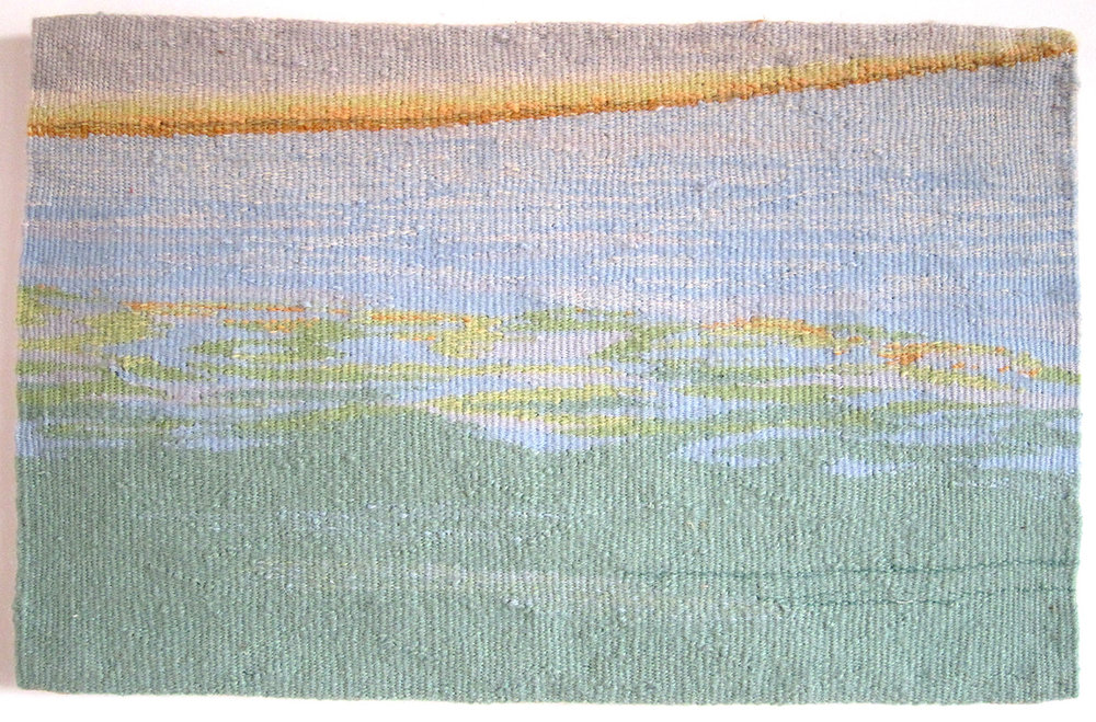 "Reflection On Water , wool on cotton, 10"" x 16"""