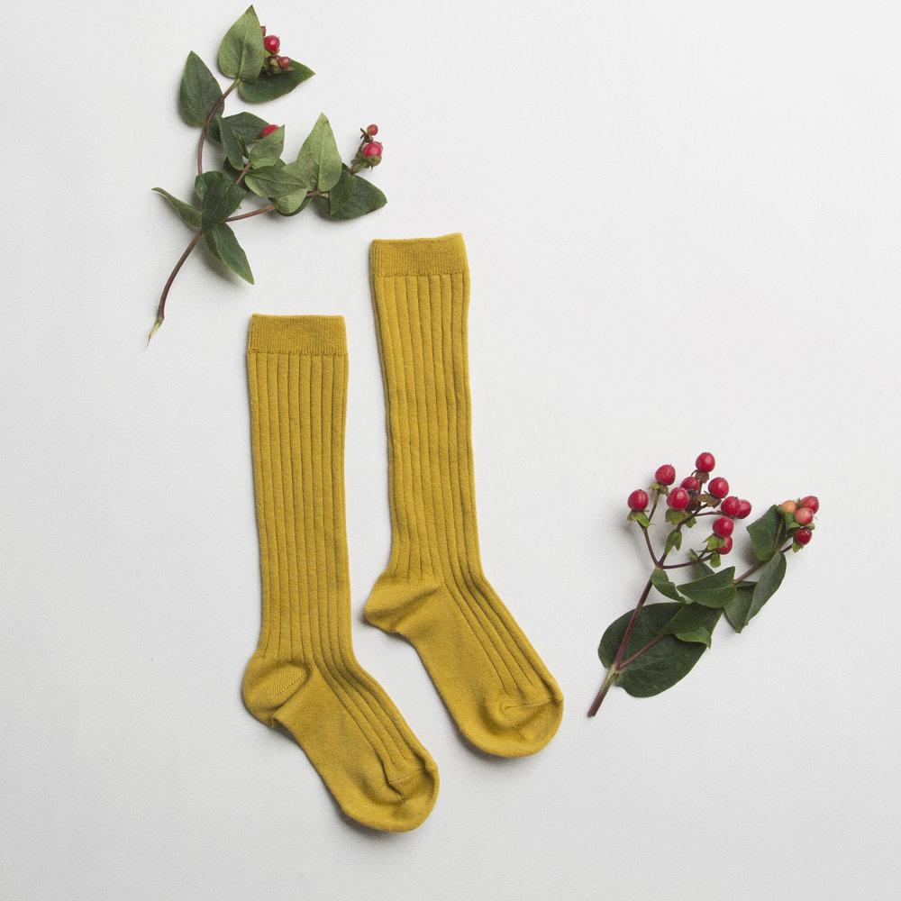 knee high sock mustard.jpg