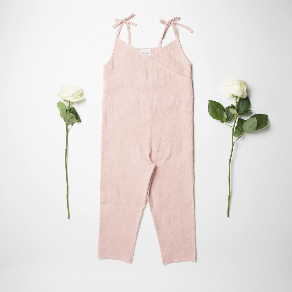 Jumpsuit Front - Baby Pink Linen.jpg