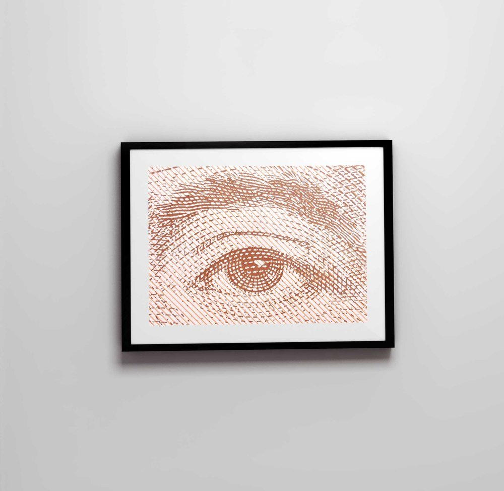 Andrés Bello, $20.000 chilean banknote | duotone screen-print on paper [15.7 x 11.8 inches]