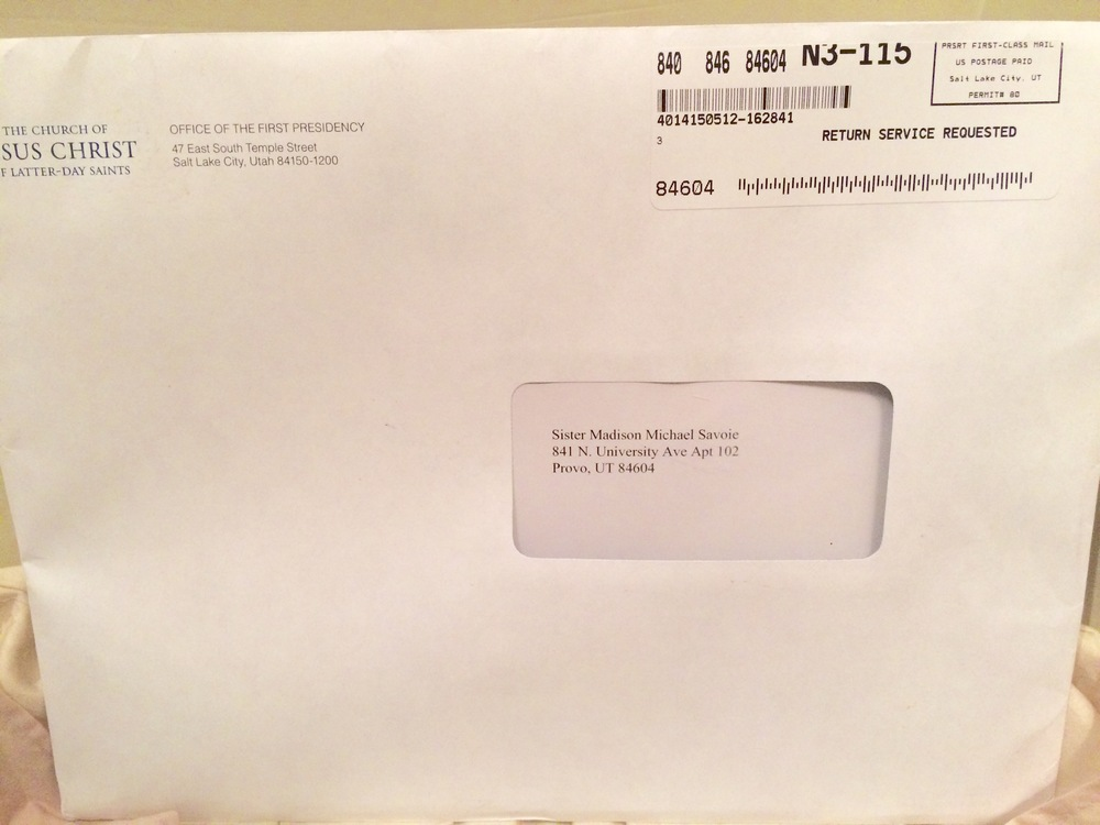 Sister Savoie Mission Call