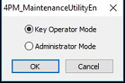 Figure 19: Maintenance Utility mode selection