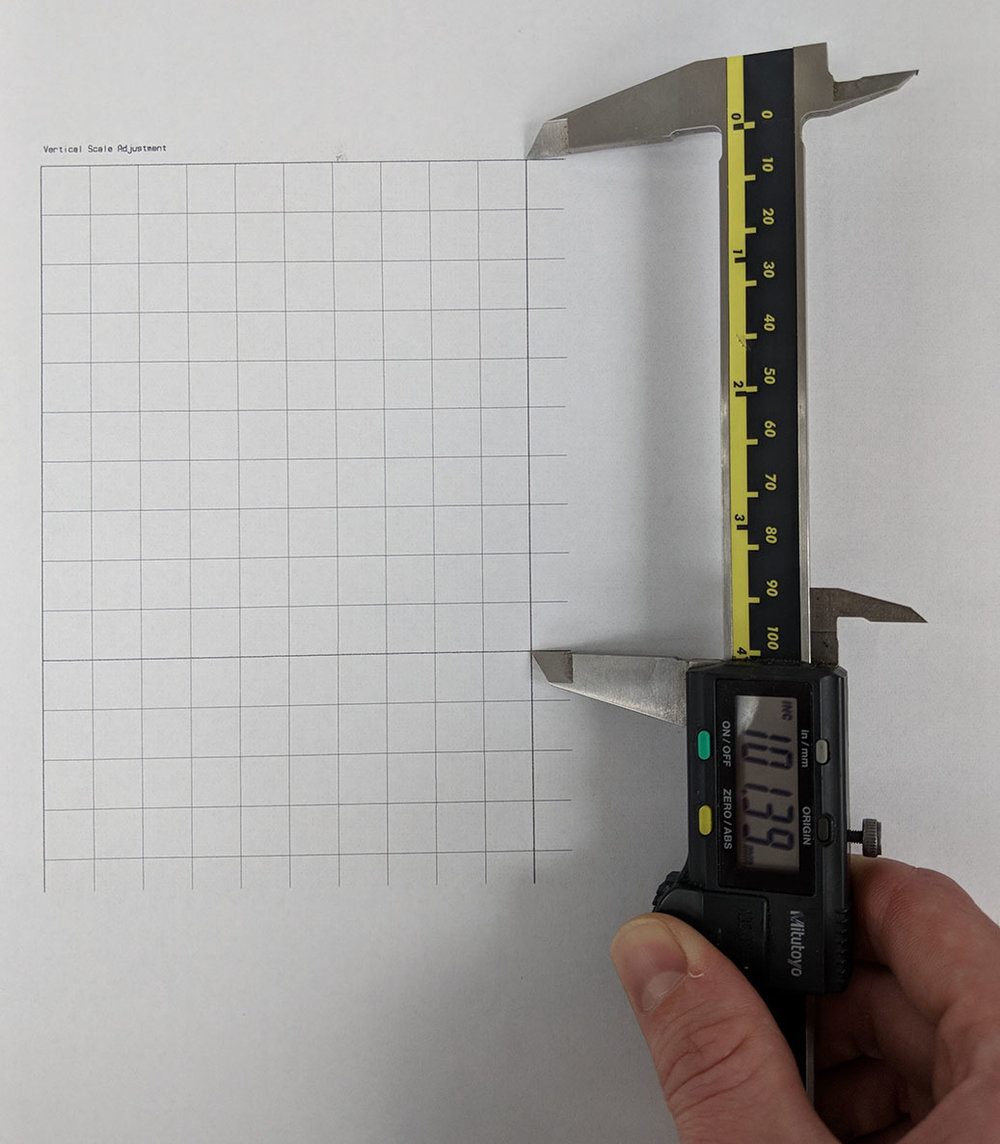 Figure 9: Vertical Scale Adjustment pattern