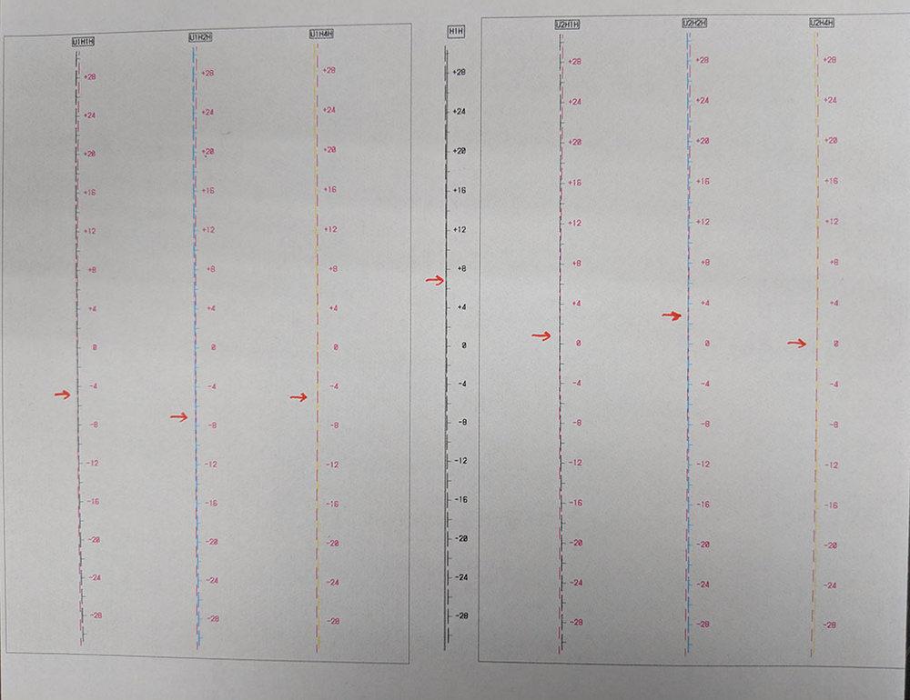Figure 15B: Head Position Adjustment Pattern Horizontal