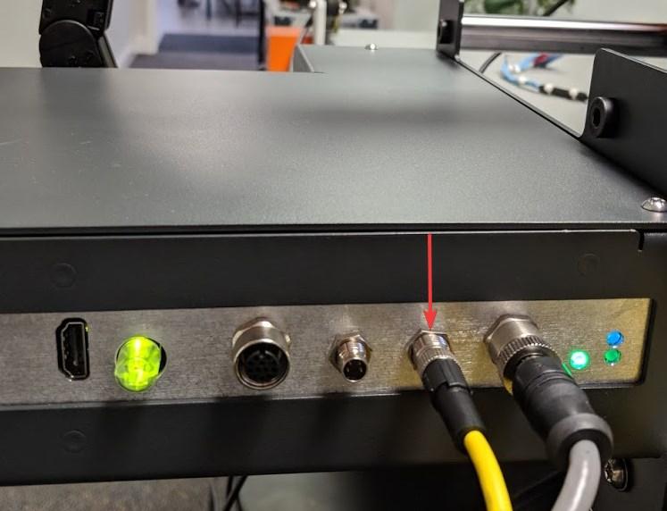 Figure 8: Plug location on Ink Tank box for Sensor input