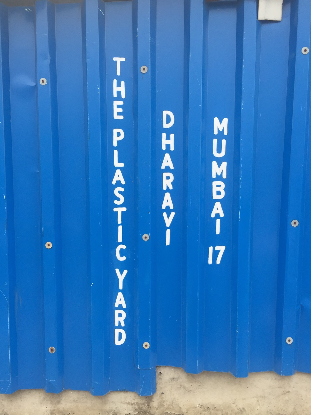 The Plastic Yard at the Dharavi Slum