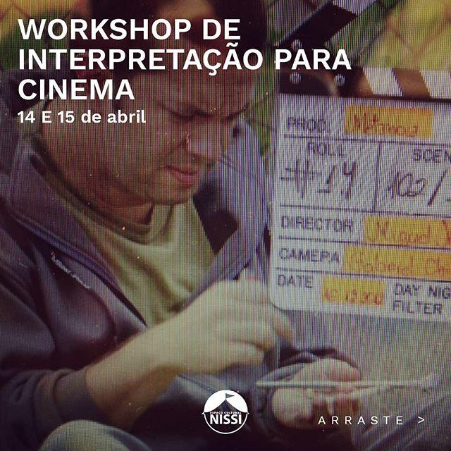 Tá aí mais um workshop que amo fazer! INTERPRETAÇÃO DE ATORES PRA CINEMA.  E no final vamos gravar um monólogo com cada ator!!! Não deixem de participar!!! Interessados com alguma dúvida me manda um inbox!!! Senão já vai no site www.espacoculturalnissi.com e faz sua inscrição.  @espacoculturalnissi  #cinema #interpretacaoparacinrma #atoresdecinema #atuacaopracinema #atrizdecinema #atordecinema #cianissi #ciadeartesnissi #campinas #jeovanissi #cinemacristao #direcaodeatores #preparacaodeatores