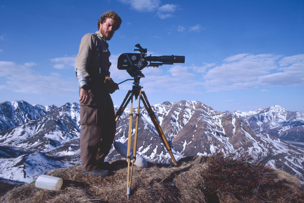 Kevin on location in Denali NP Alaska, shortly before being hunted (unsuccessfully) for hours by a large grizzly bear.