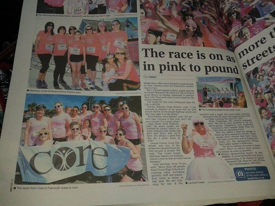 WEST BRITON RACE FOR LIFE TEAM 2014