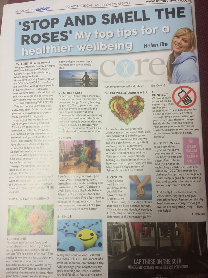 WELLBEING SLOT IN WAVE MAGAZINE