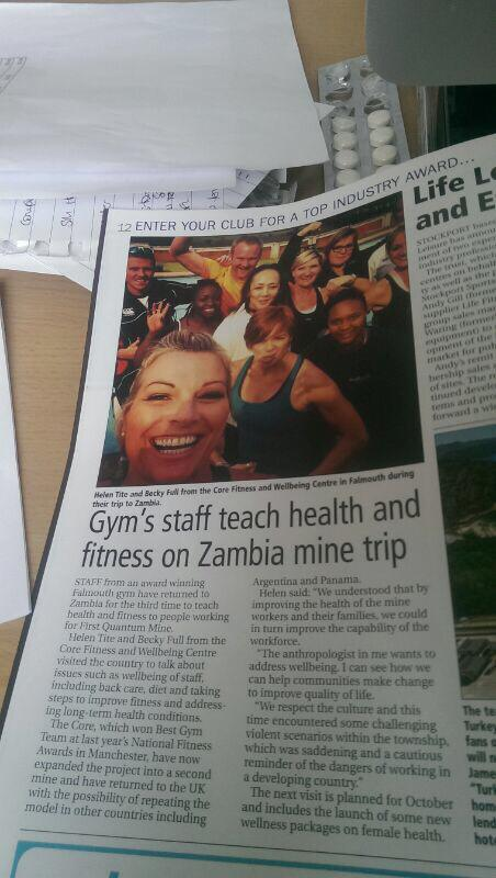 WORKOUT MAGAZINE FEATURE ON TRAINING IN ZAMBIA