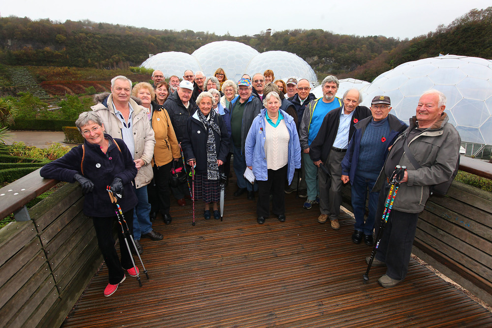 The walking group celebrating 10 years at The Eden Project