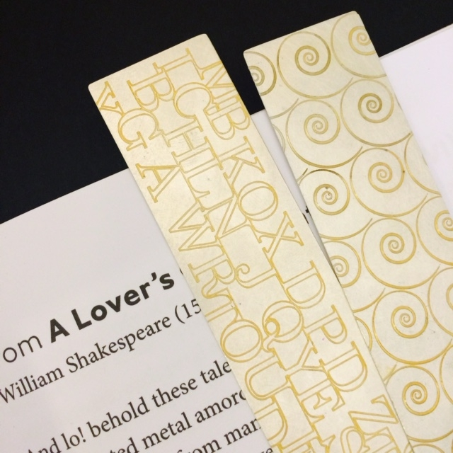 Mary Ann Simmons Gold Etched Book Marks