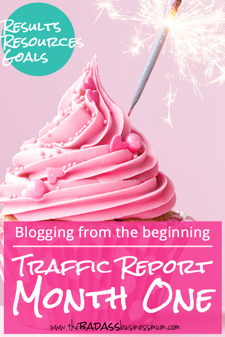 Traffic report from the first month of a new blog plus social media strategy overviews for growing blog traffic from my last blog