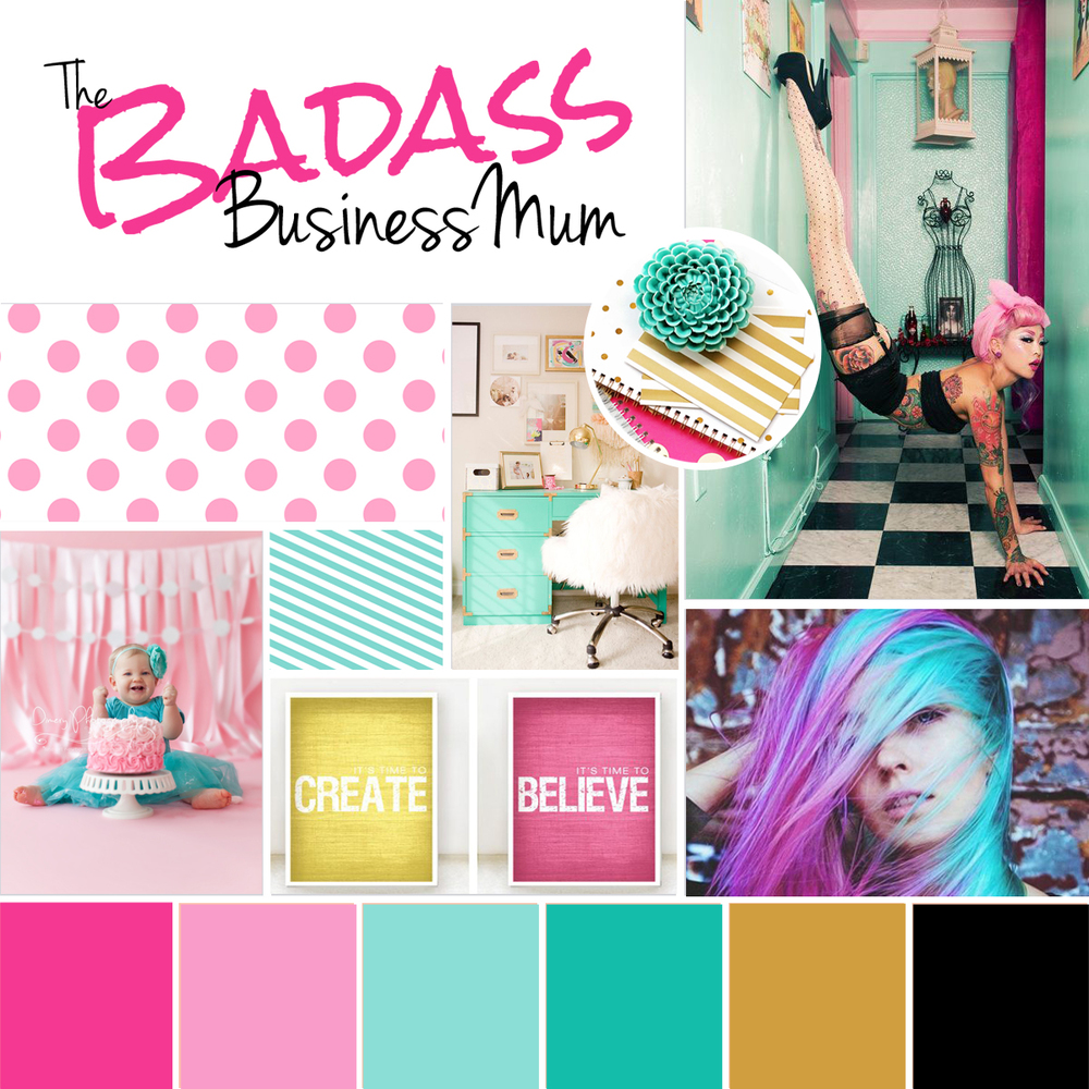 The Badass BusinessMum Moodboard - the inspiration behind the visuals and tone of my brand and blog