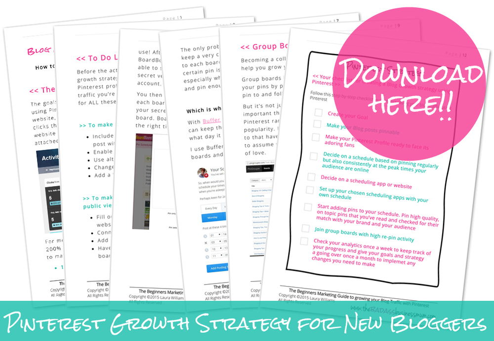 My actual strategy for growing my blog with Pinterest. Download it & see if it works for you!