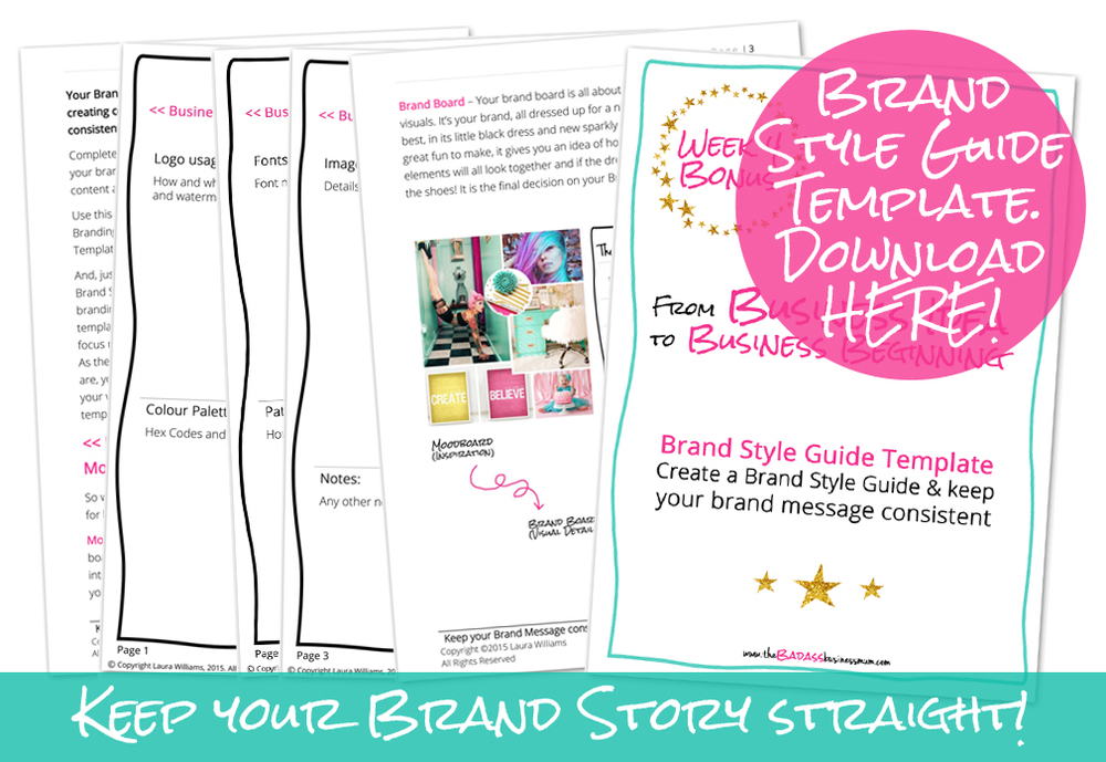 Discover how to create a Brand Style Guide with this free printable Workbook!
