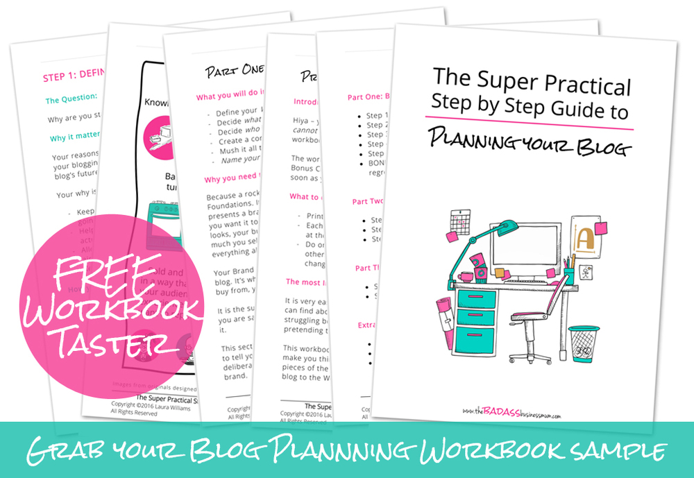 Practical, straight forward step by step advice on starting a blog without the overwhelm!