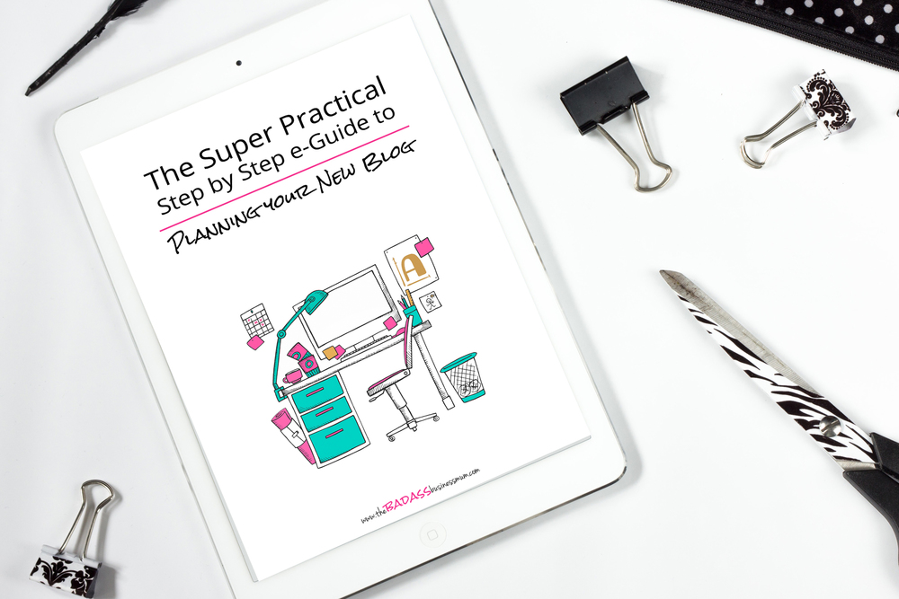 Pre-order your copy of The Super Practical Step-by-Step e-Guide to Planning Your New Blog today to get an introductory 50% off!