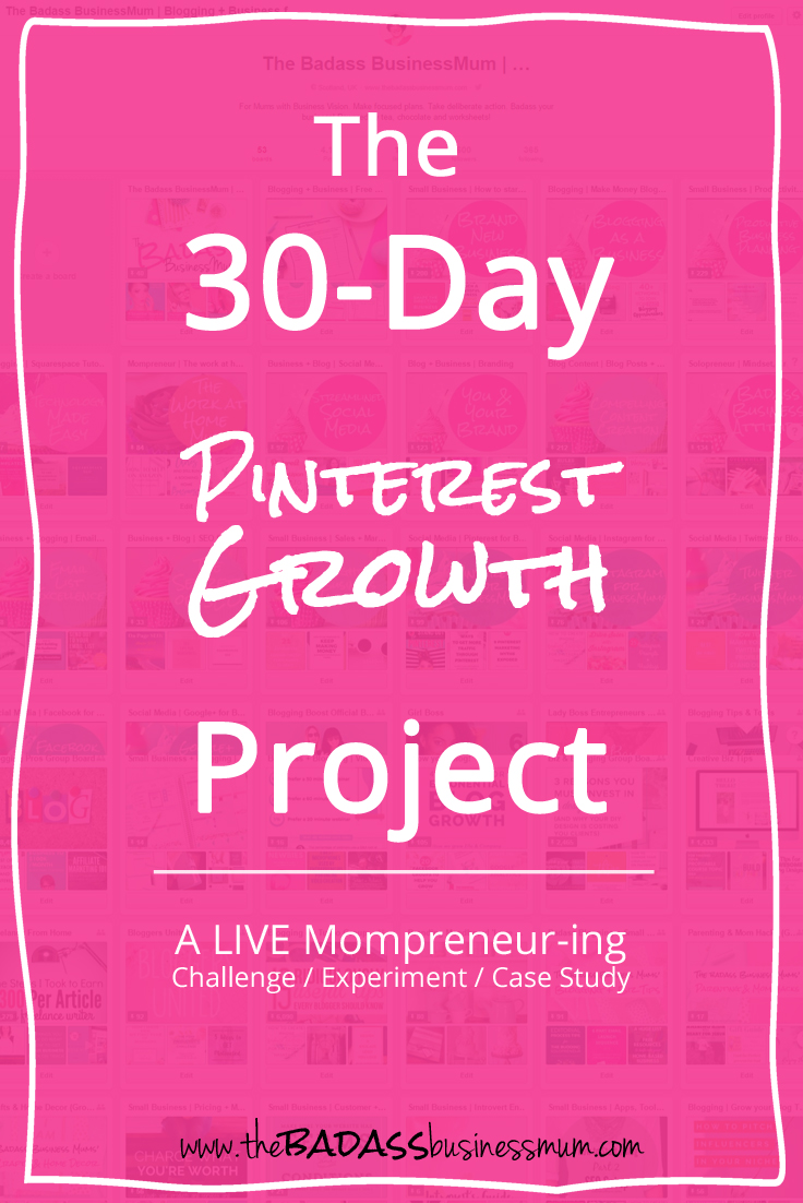 Come and join me as I spend 30 days experimenting with strategies to grow both my Pinterest account and my Pinterest referral traffic to my blog!