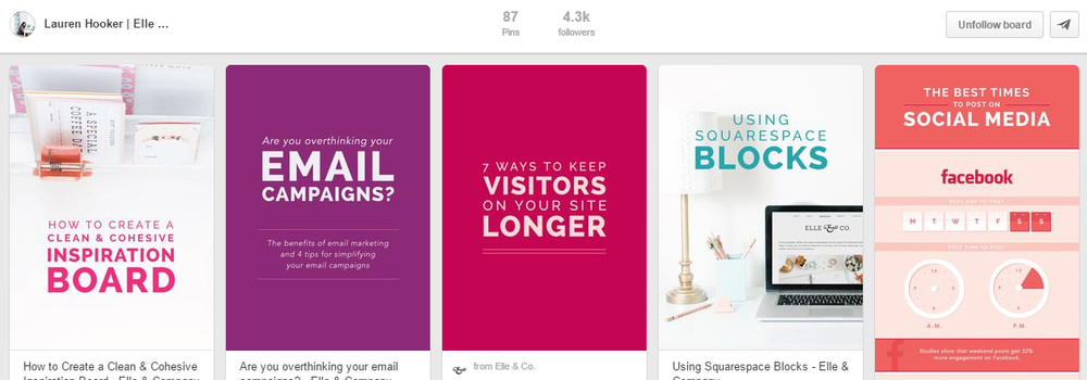 Use consistent branding in your Blog Images to make them immediately recognisable in the Pinterest Smart Feed