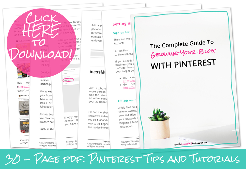 The Complete Guide to Growing your Blog Traffic with Pinterest; Account set up, Pinning Strategy and Image Creation explained