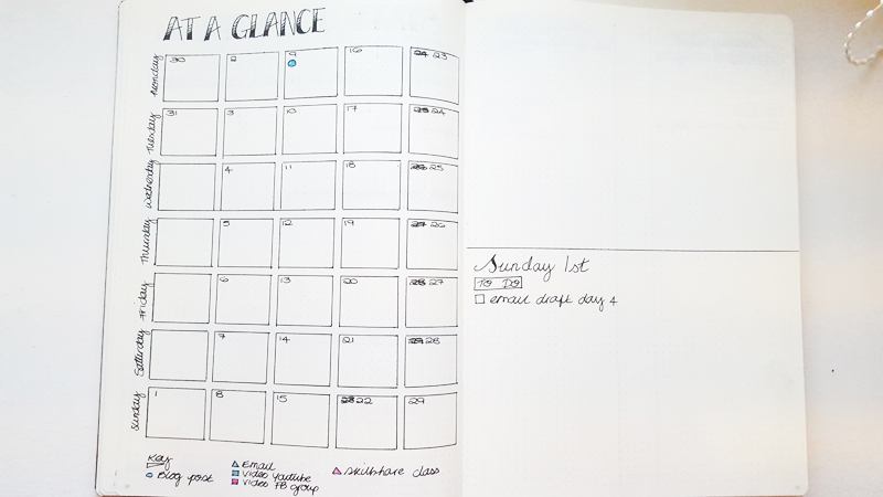 My Month at a Glance