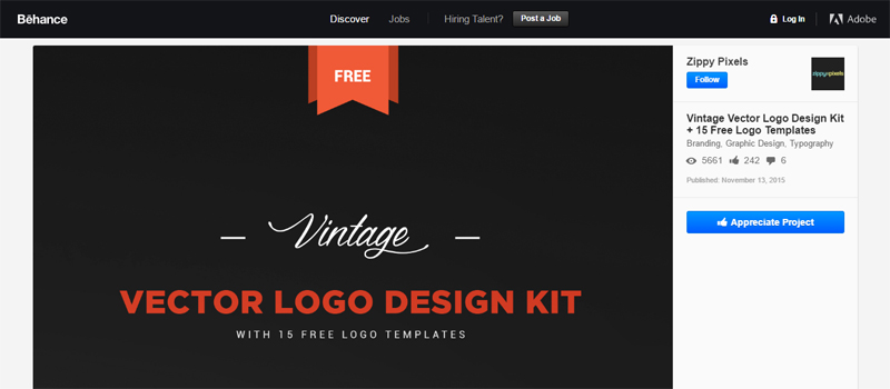 Free Logo Design Kit on Behance