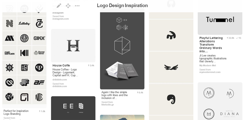 My Logo Design Inspiration Board on Pinterest